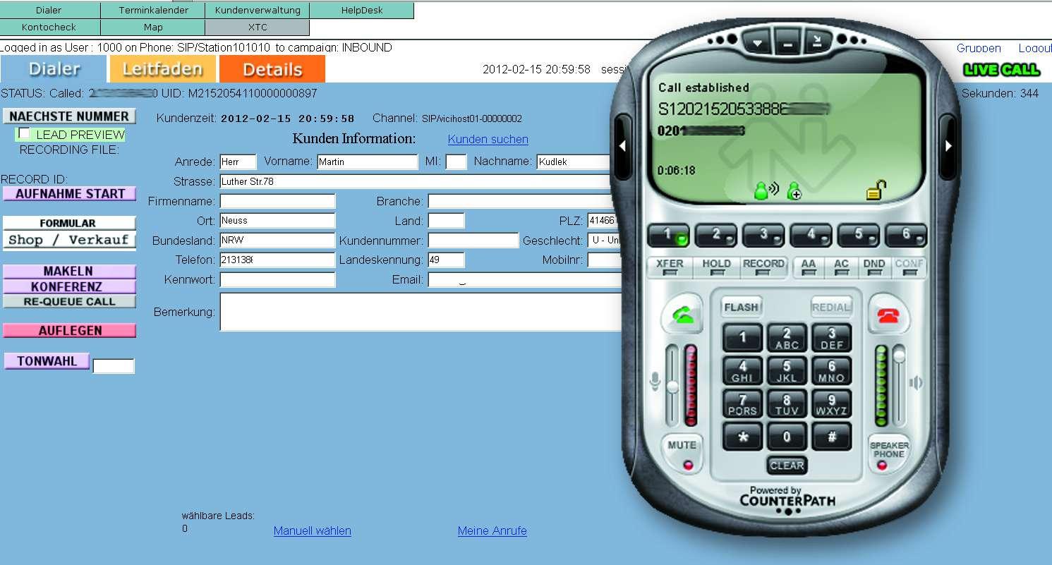Telefon Hotline IVR ACD Mehrwertdienste 0800 0900 0185x 0137 Softphone